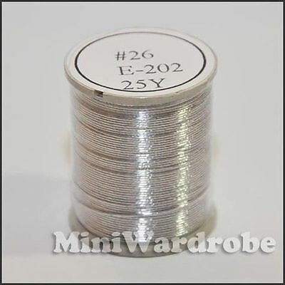 Silver Floral Spool Wires Craft Jewelry 26Gauge 25yrd