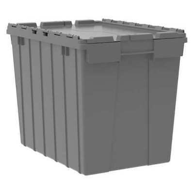Attached Lid Container, 2.28 cu. ft., Gray AKRO-MILS 39170
