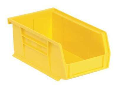 "Yellow Hang and Stack Bin, 7-3/8""L x 4-1/8""W QUANTUM STORAGE SYSTEMS QUS220YL"