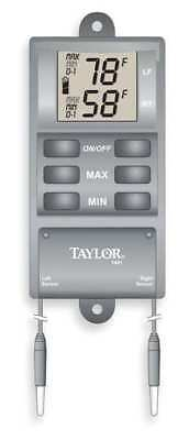 TAYLOR 1441E Digital Thermometer, -20 to 120 Degree F
