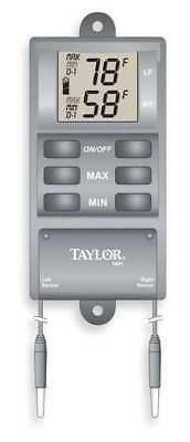 Taylor Digital Thermometer, -20 to 120 (F), 1441E