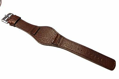 Accurist Leather Brown Military Cuff style strap.