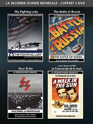 4 DVD The Fighting Lady The Battle of Russia The Nazi Strike A Walk in the Sun