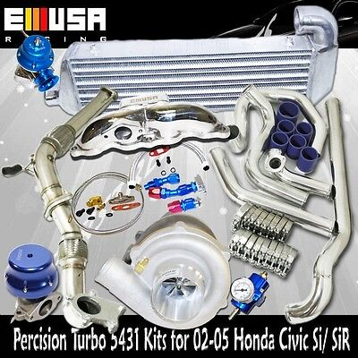 Presicion 5431 Turbo+Downpipe+SuperdutyManifold 02-05 Civic Si/TypeR 2.0 K20AEp3