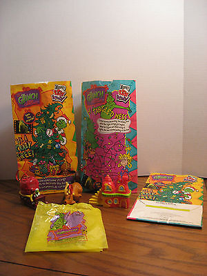Wendy's Kids Meal Toys - How the Grinch Stole Christmas - 3 Toy Ornaments - 2001