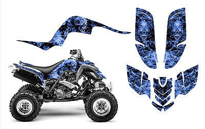Yamaha Raptor 660 graphics 660R racing sticker kit NO9500 Blue Zombie