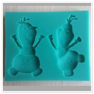 Silicone Frozen Olaf Ice Chocolate Fondant Soap Mould Eco-friendly