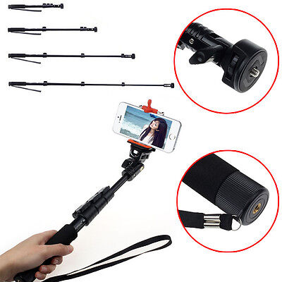 Extendable Handheld Monopod Tripod Adapter for iPhone 5S GoPro Camera Fad new