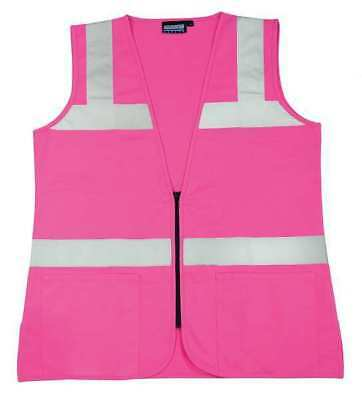 Erb Safety S721 61909 High Visibility Vest, Unrated, Pink, S