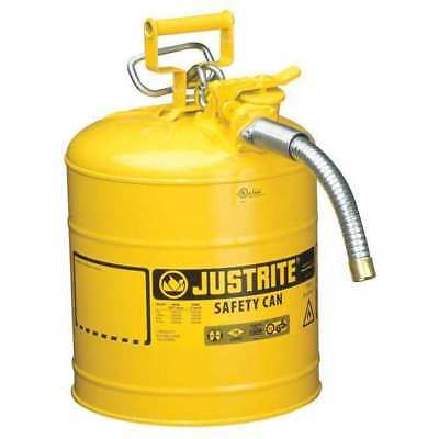 JUSTRITE 7250230 Type II Safety Can, 17-1/2 In. H, Yellow