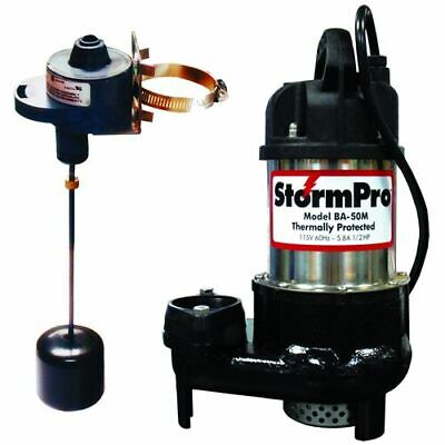 iON 1/2 HP Cast Iron Stainless Steel Sump Pump w/ Adjustable Vertical Float (...
