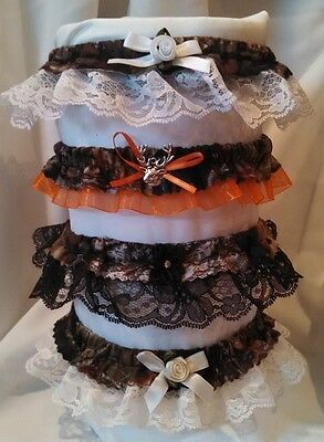 Mossy Oak BreakUp Camo Wedding Garter with Choice of Lace Formal Bridal