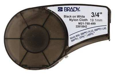 BRADY M21-750-499 Label Cartridge,Black/White,3/4 In. W