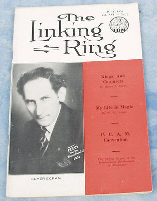 July 1936 Issue of The LINKING RING Magazine - I.B.M. 1936 - Old and Rare!
