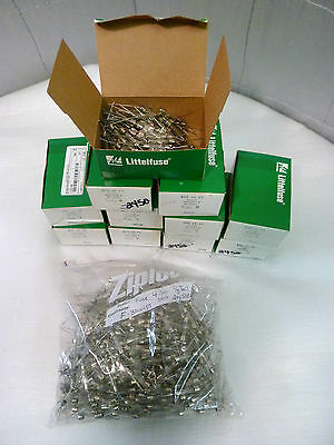 """Qty 100 FUSE  4 Amp """"Pig-Tail"""" Fuse,   Littlefuse 3AG 4A PT, NEW"""