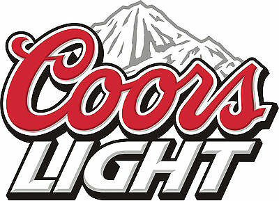"COORS LIGHT Vinyl Sticker Decal 10"" (full color)"