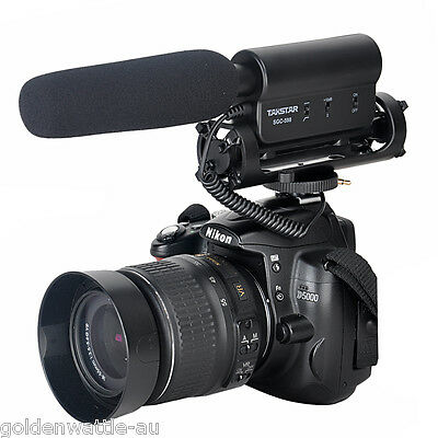 Video Shotgun Mic Microphone For Nikon Canon DSLR Camera DV Camcorder NEW