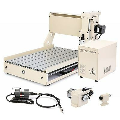 3040 CNC ROUTER ENGRAVER 4 AXIS MILLING STEPPING MOTOR HARD WOOD DURABLE SERVICE