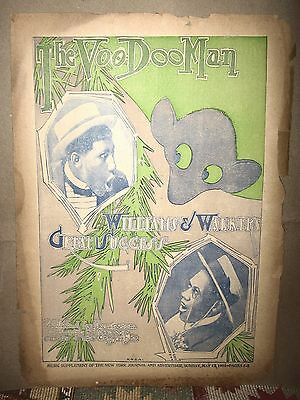 "1901 BLACK SONGWRITERS WILLIAMS & WALKER SHEET MUSIC ""THE VOO DOO MAN"""