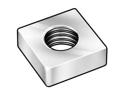 #10-24 Steel Zinc Plated Finish Machine Screw Square Nut, 100 pk., 1XB13