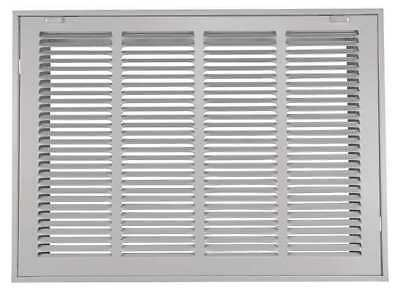 4JRT7 Return Air Filter Grille, 20x20 In, White