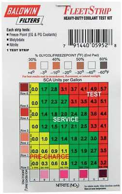 BALDWIN FILTERS CTK5029-4 Coolant Test Strips Only, CTK5029-4