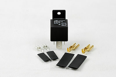 12V Heavy Duty Split Charge 70A amp ON/OFF Relay - Van Boat 4 Pin + Connectors