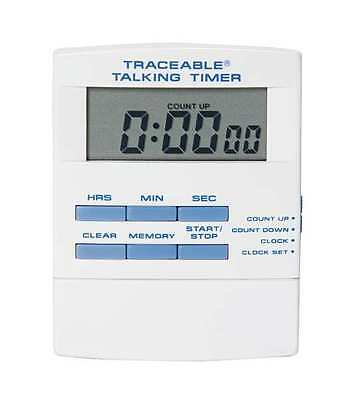 TRACEABLE 8047 Talking Timer,Display 1/2 In. LCD