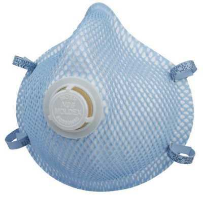 MOLDEX 2300N95 N95 Disposable Respirator w/ Valve, M/L, Blue, PK10