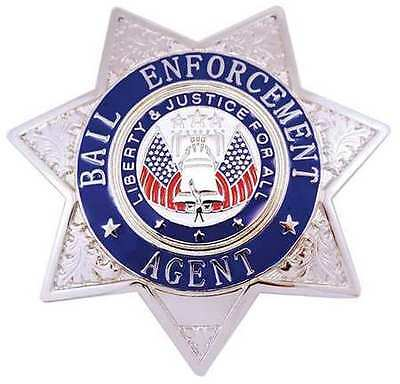 HEROS PRIDE 4132N Metal Badge, Bail Enf Agent - Star, Nickel