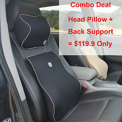 Back Support Lumbar Support Cushion Head Pillow For Car Combo Deal, BH & DN