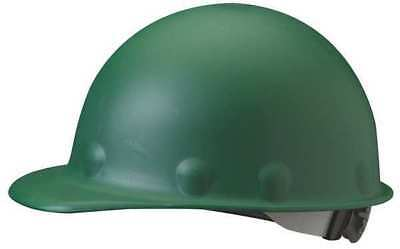 FIBRE-METAL BY HONEYWELL P2ARW74A000 Hard Hat, Front Brim, G/C, Ratchet, Green