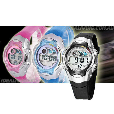 Buy 2 OHSEN kids watches for $32 - digital Alarm for Boys or Girls Mel store