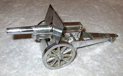 Vintage NEGBAUR N.Y. Crome CANNON TABLE LIGHTER MADE IN USA