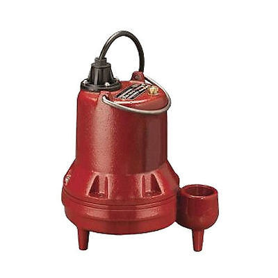 "Liberty Pumps LE51M - 1/2 HP Cast Iron Sewage Pump (2"") (Non-Automatic)"