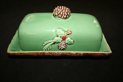 """HOLLY LODGE COLLECTION - """"LIVIN' LODGE""""  BUTTER DISH"""