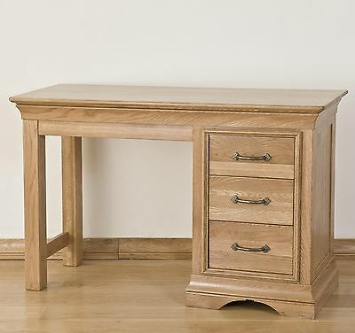 Lourdes solid oak french furniture small bedroom dressing table desk