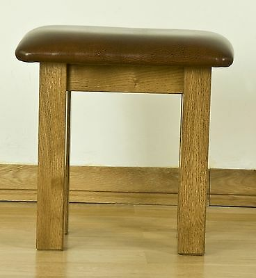 Lourdes solid oak french furniture bedroom dressing table stool