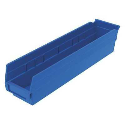"Blue Shelf Bin, 17-7/8""L x 4-1/8""W x 4""H AKRO-MILS 30128BLUE"