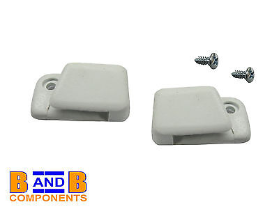 VW T1 BUG BEETLE WHITE SUN VISOR CLIPS 133857562 x 2 A678