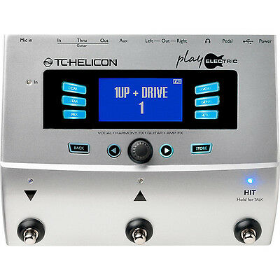 TC Helicon Voice Play Electric Vocal and Guitar Multi Effect Unit - Brand New!