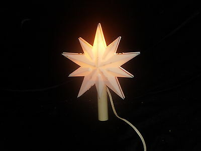 ~ VINTAGE CHRISTMAS TREE TOP STAR TREE TOPPER TIMCO W/ ORIG BOX WORKS OUTDOOR ~