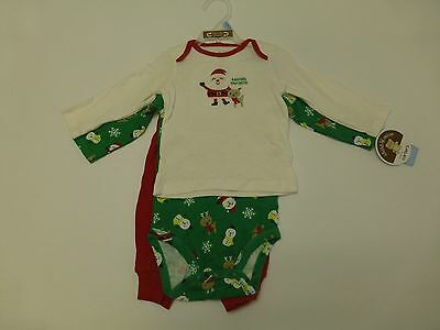 3 Pc Carters Child of Mine Baby Boys or Girls Size 3-6M Christmas Outfit New