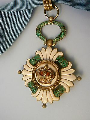 SERBIA KINGDOM, ORDER OF THE CROWN, COMMANDER, beautiful, very rare