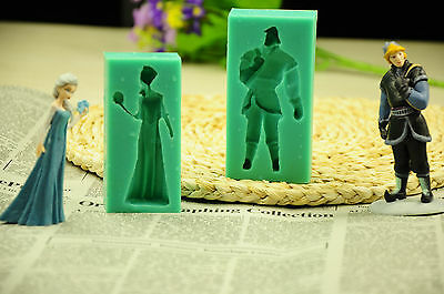 Frozen Elsa Anna Silicone Fondant Moulds Sugarcraft Tools Cake Decorutings