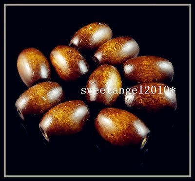 Lots 60/150Pcs Nice Oval charm wood Spacers beads Jewelry making 12mm