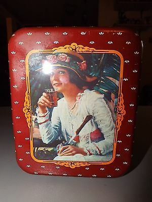 1988 Coca Cola Rectangle Shaped Old Fashioned Girls Themed Tin