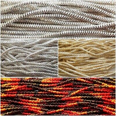 120 inches - THICK French Metal Purl Wire Coil Bullion Cord - Check Rough