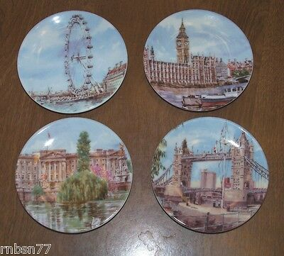 Royal Worcester Set of 4 Portraits of Britain Plates 2003