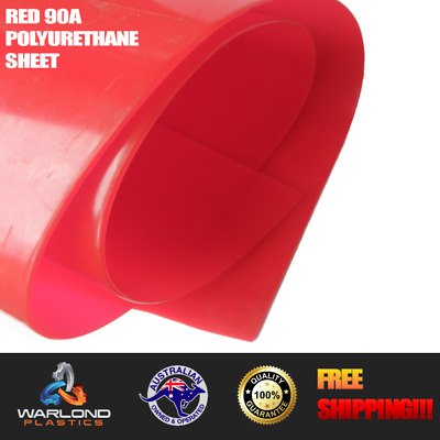 Red 90A Polyurethane Sheet 2000x1000x3mm (Engineering Plastic)
